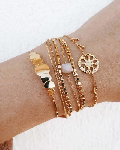 bracelets fin plaqué or 24 carats